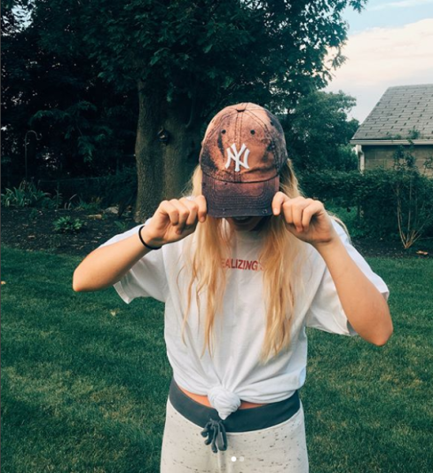 bleached hat