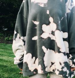 bleached swearshirt