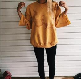bleached sweatshirt